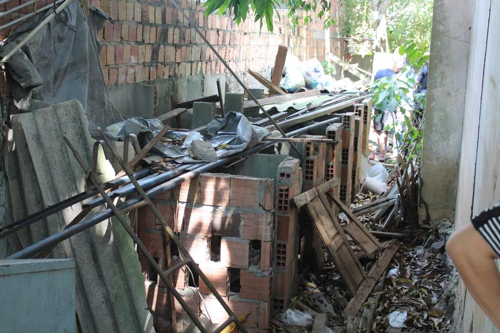 Cães e gatos eram mantidos junto ao lixo, folhas e fezes (Foto: Rickardo Marques/G1 AM)