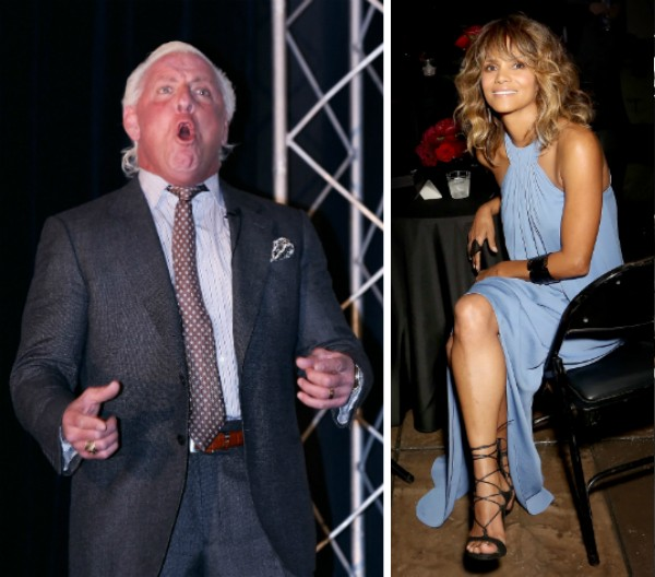 O ex-lutador Rick Flair e a atriz Halle Berry (Foto: Getty Images)