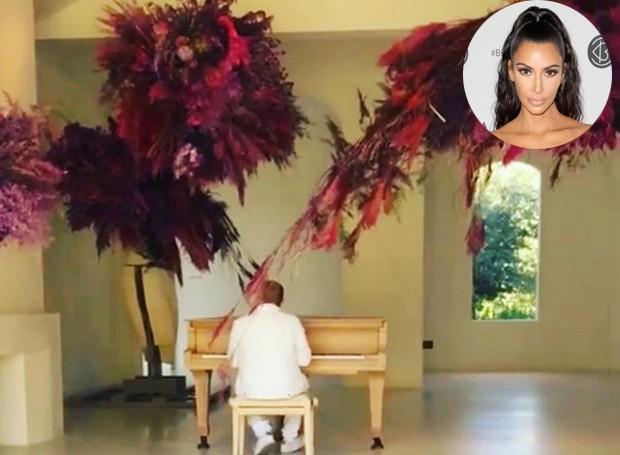 Kim Kardashian publicou os vídeos em seu Instagram e Twitter (Foto: Twitter/ Reprodução)
