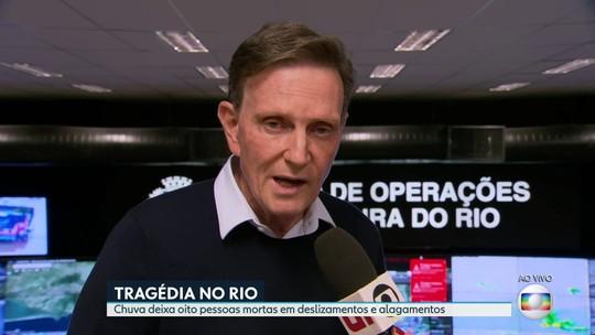 Crivella admite que houve falha de planejamento e demora nas ações durante temporal no Rio