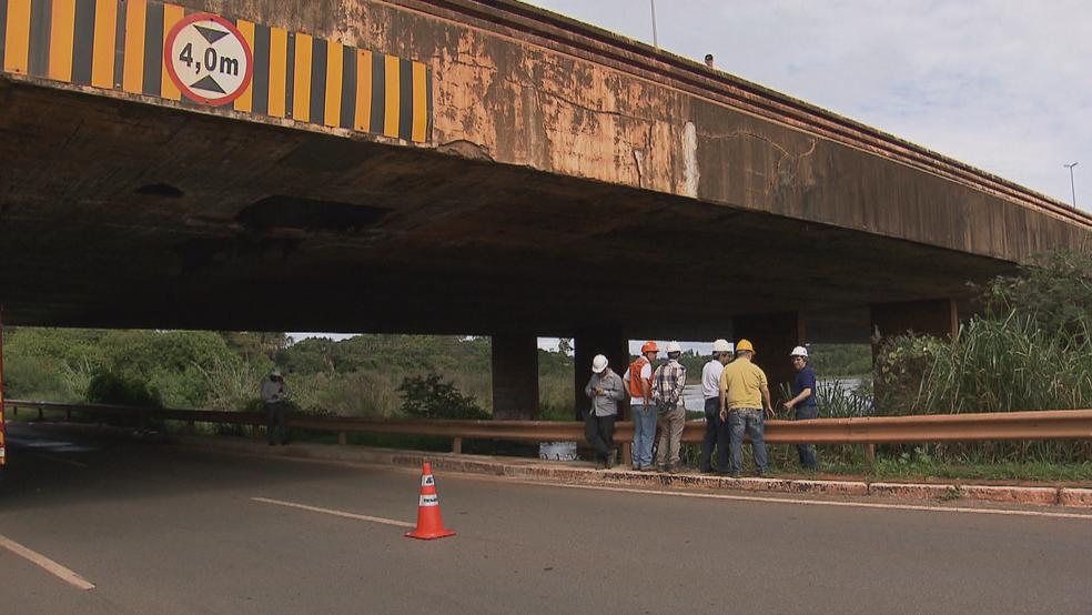 Ponte do Bragueto, em Brasília (Foto: TV Globo/Reprodução)
