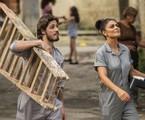 Rafael (Daniel Rocha) e Carolina (Juliana Paes) na novela 'Totalmente demais' | TV Globo