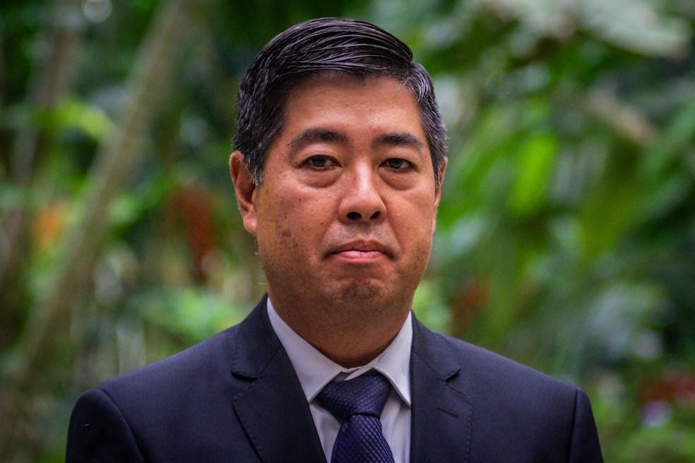 Rubens Okada assume a Politec. — Foto: Gcom/Assessoria