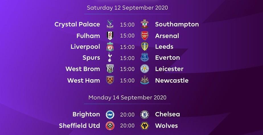Premier League Divulga Tabela Da Temporada 2020 2021 Campeao Liverpool Estreia Contra Leeds De Bielsa Futebol Internacional Ge