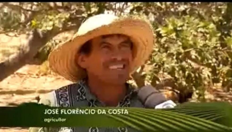José Florêncio da Costa, em entrevista ao Inter TV Rural em 2016. — Foto: Reprodução