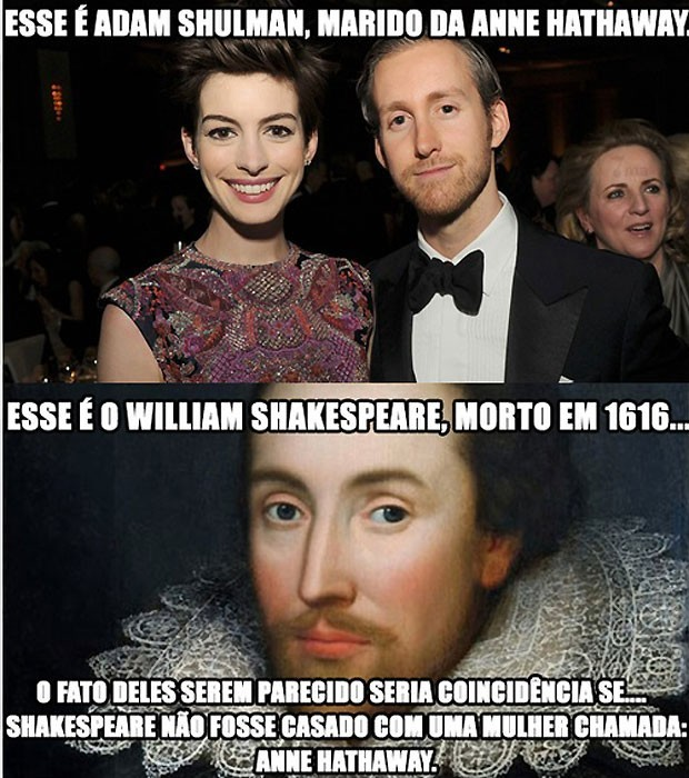 25 Best Memes About Anne Hathaway: William Shakespeare: 12 Fatos Sobre O Autor De 'Romeu E