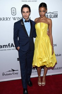 Zac Posen e Aya Jones