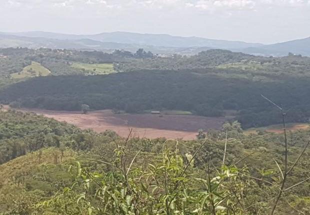 Área atingida pelo rompimento da barragem da Vale em Brumadinho (MG) (Foto: Divulgação/Corpo de Bombeiros)