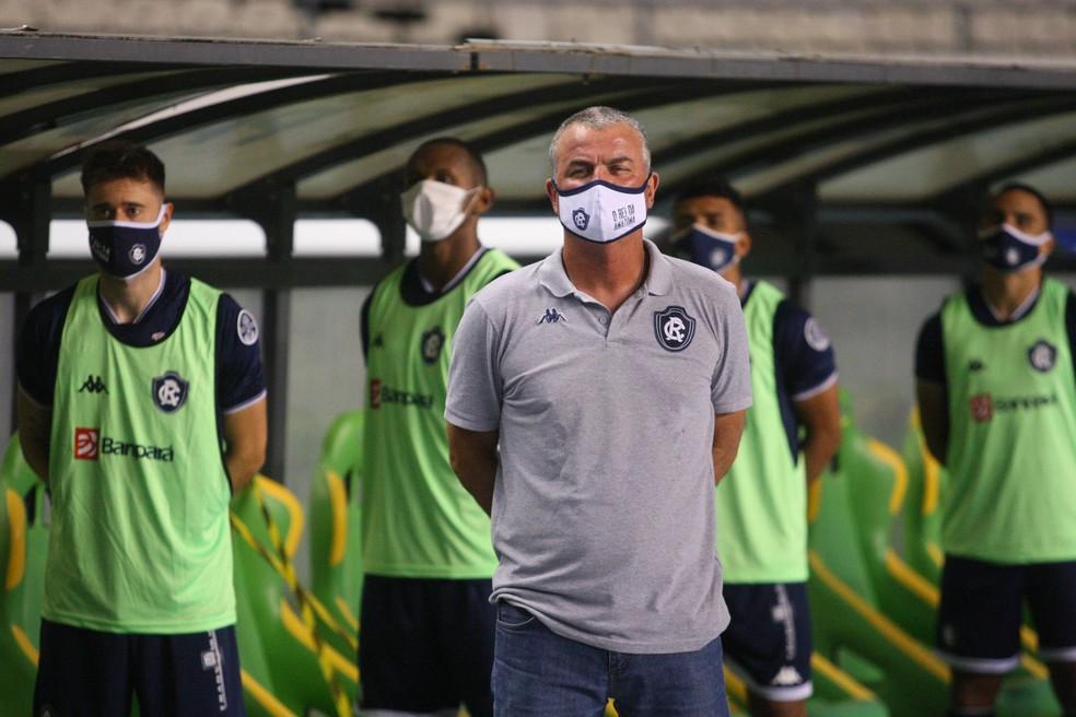 """Como vem o Remo pro clássico? Mazola Júnior guarda a formação a """"sete chaves"""". — Foto: Thiago Gomes/O Liberal"""
