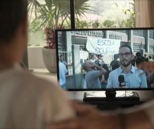 Léo Rosa em cena de 'Amor de mãe'   TV Globo