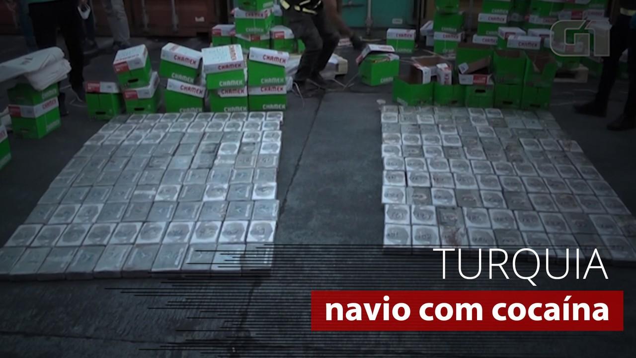 Turquia intercepta 220 kg de cocaína em navio que vinha do Brasil
