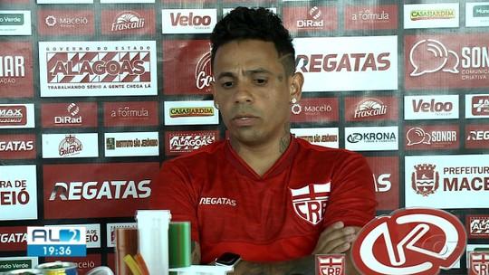 """Élton fala sobre estreia pelo CRB e diz que time e torcida precisam jogar juntos: """"Hora de união"""""""