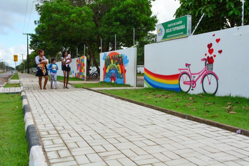 As obras fazem parte dos investimentos que valorizam os imóveis e garantem a segurança de pedestres.  — Foto: PMBV.
