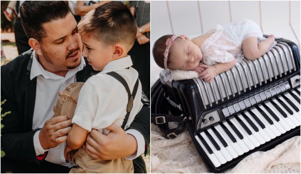 Diego deixou a esposa Nathalia e dois filhos, o Lucca, de quatro anos, e a Lara, de 40 dias — Foto: Arquivo pessoal