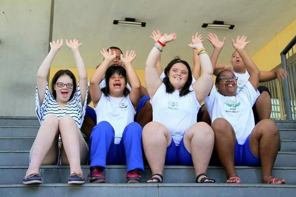 Exposição pelo Dia da Síndrome de Down é atração em Barra Mansa — Foto: Divulgação/Apae-BM