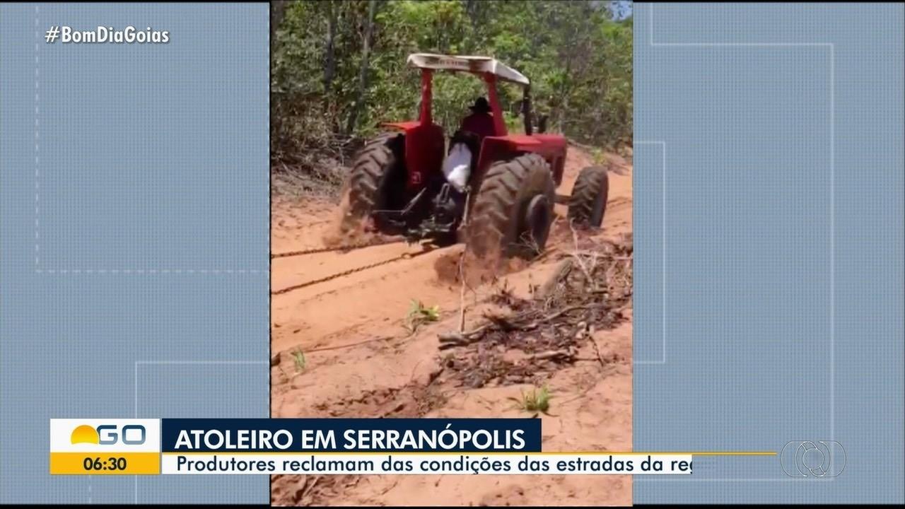 Produtores reclamam das condições das estradas em Serranópolis