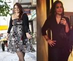 Renata Celidônio antes e depois de perder 64kg | Simone Marinho e Reprodução