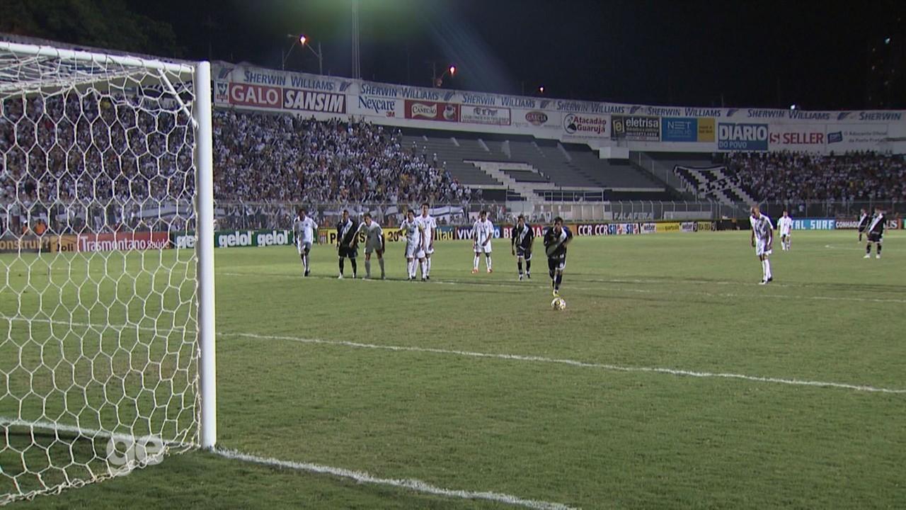 Gol de Renatinho no empate da Ponte Preta em 2 a 2 com o Santos, pelo Paulistão