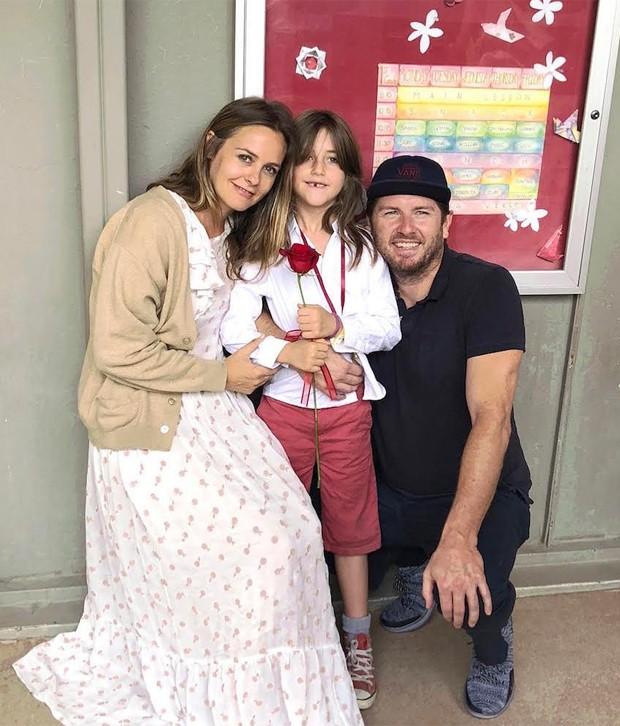 Alicia Silverstone, Bear e Christopher Jarecki (Foto: Reprodução/Instagram)