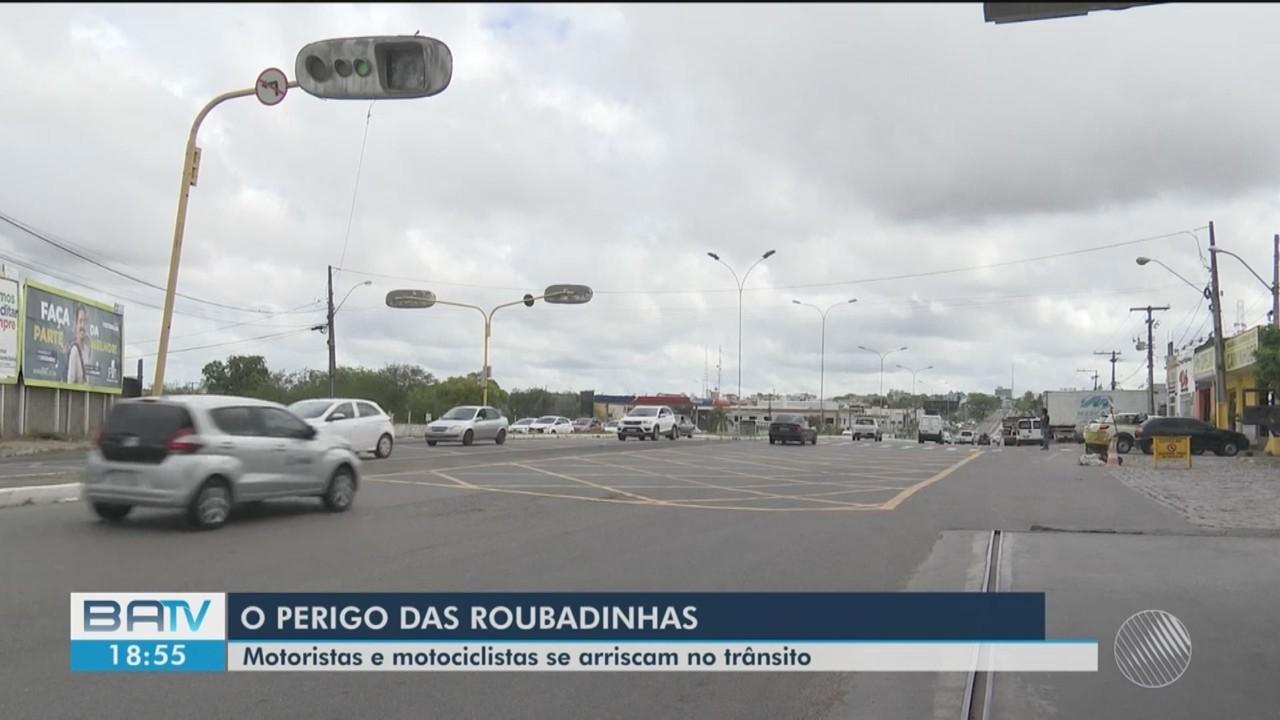 Motoristas ignoram leis de trânsito e correm risco de causar acidentes em Feira de Santana