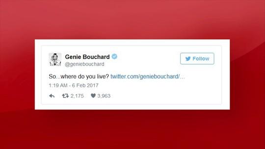 Eugenie Bouchard aposta contra Patriots e promete sair com torcedor
