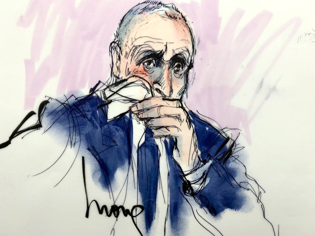 Illustration by Vernon Unsworth during trial in Los Angeles this Friday (6). - Photo: Mona Shafer Edwards / Reuters