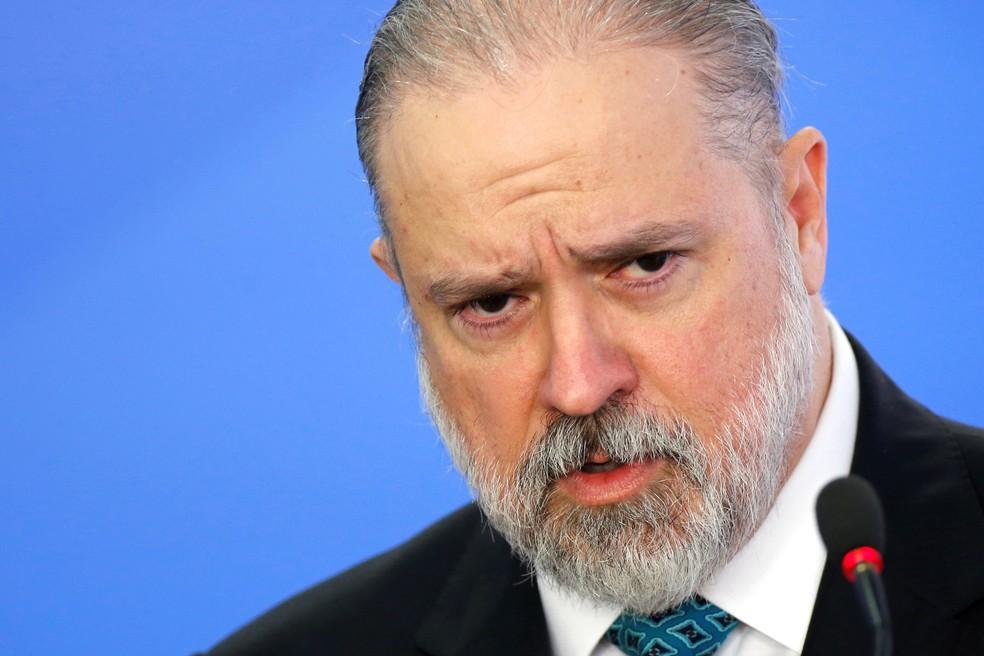 O procurador-geral da República, Augusto Aras, durante discurso de posse no Palácio do Planalto em 26 de setembro de 2019 — Foto: Adriano Machado/Reuters