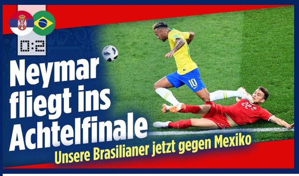 Bild Brasil x Sérvia (Foto: Reprodução)