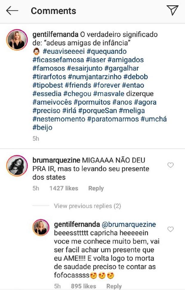 Fernanda Gentil e Bruna Marquezine (Foto: Reprodução/Instagram)