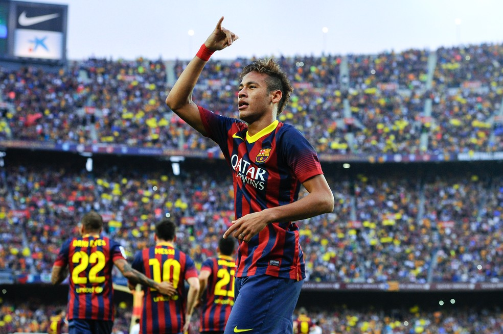Neymar estreia Real Madrid x Barcelona — Foto: Getty Images