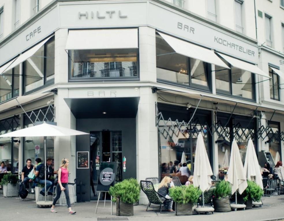 O buffet do Haus Hiltl oferece 100 pratos vegetarianos caseiros e veganos de todo o mundo — Foto: Divulgação/Haus Hiltl