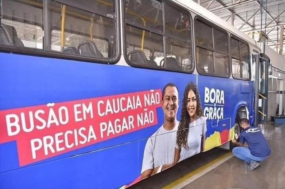 Caucaia, na Grande Fortaleza, passa a ter passagem de ônibus gratuita — Foto: Divulgação