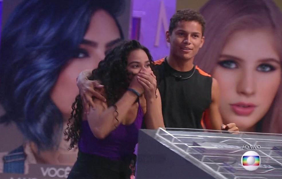 Elana e Danrley são novamente Líderes do BBB19 — Foto: TV Globo