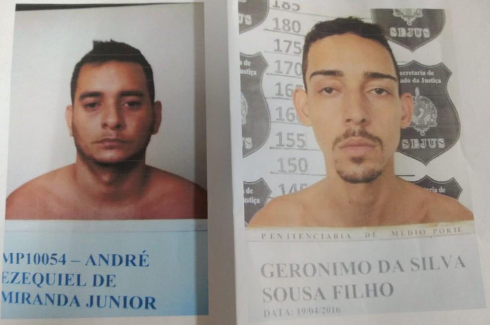 Foragidos suspeitos de matar empresário dono de pet shop em Porto Velho — Foto: Polícia Civil / Divulgação