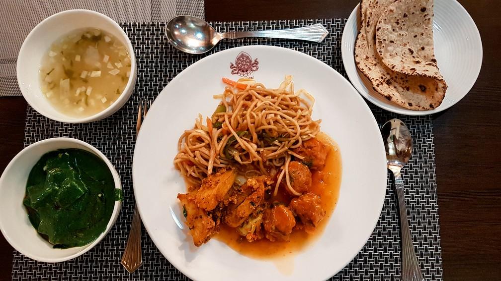 Maior parte da comida em Ladakh é vegetariana (Foto: Rafael Miotto / G1)