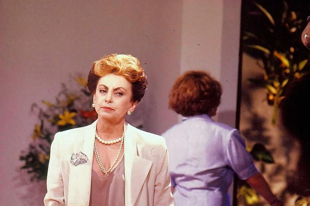 Beatriz Segall como Odete Roitman em 'Vale Tudo', personagem que a consagrou em 1988 — Foto: Acervo TV Globo