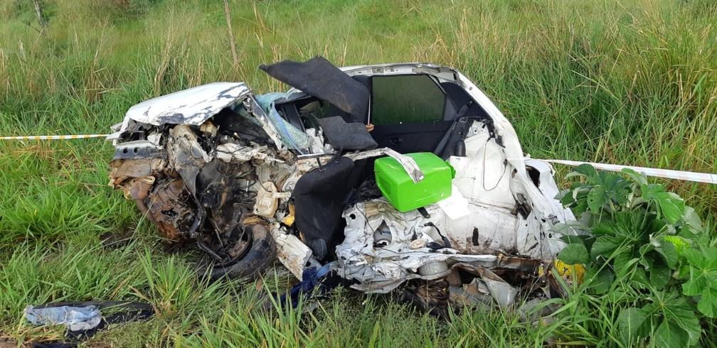 Acidente matou motorista, passageira e 2 adolescentes na BR-174 em Nova Lacerda — Foto: Polícia Rodoviária Federal de Mato Grosso/Assessoria
