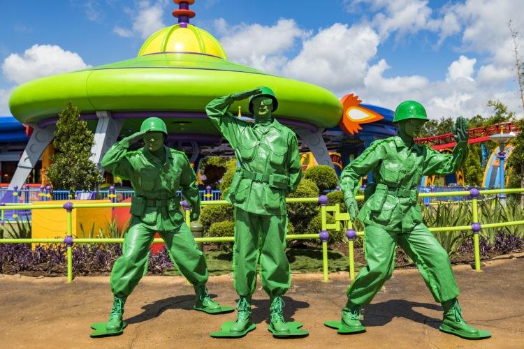 Os soldadinhos comandam a brincadeira no parque (Foto: Divulgação)