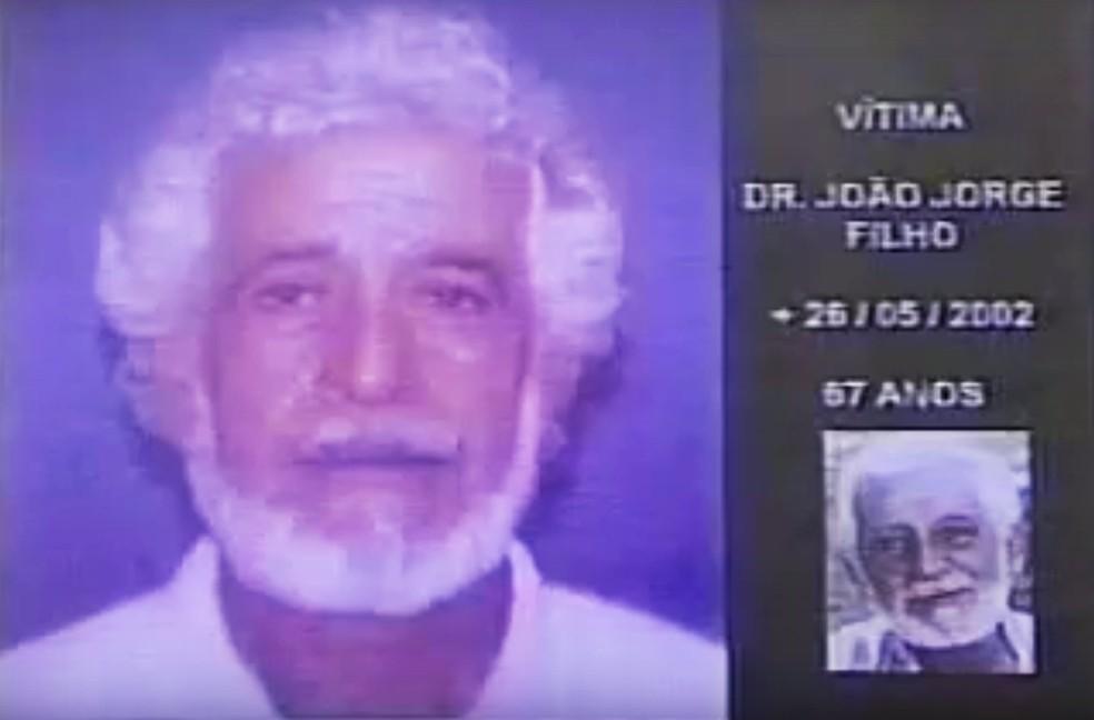 João Jorge Filho de 67 anos, assassinado na cidade de Canguaretama em meio de 2002,  (Foto: Reprodução/Inter TV Cabugi)