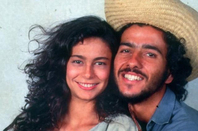 Giovanna Gold e Marcos Palmeira em 'Pantanal' (Foto: Divulgação)