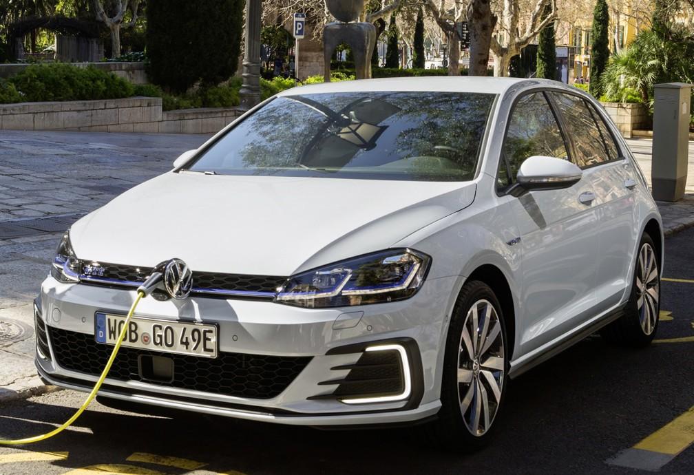 Golf GTE: elétrico está confirmado para o Brasil — Foto: Divulgação/Volkswagen