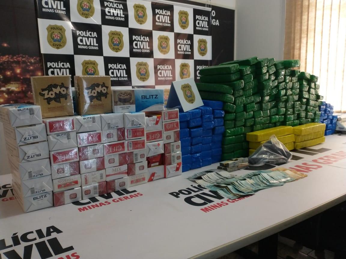 Oito pessoas são detidas e mais de 115 kg de drogas apreendidas pela Polícia Civil em Ipatinga