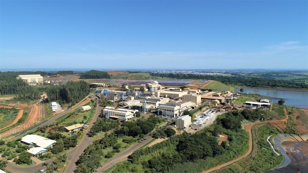 Complexo de mineração e metalurgia da CBMM, em Araxá (MG) — Foto: Divulgação/CBMM