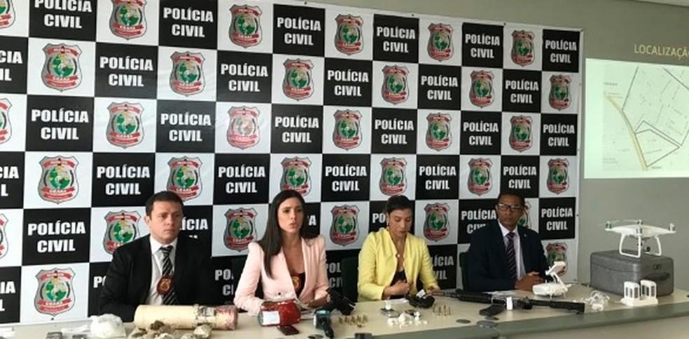 Operação policial prendeu 20 pessoas em dois anos de investigação no Ceará (Foto: SSPDS/Divulgação)