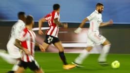 Benzema faz 2, Real bate Athletic Bilbao e é líder do Espanhol ( REUTERS/Sergio Perez)