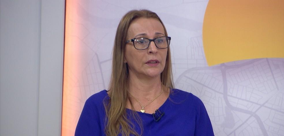 Edilene Machado, secretária adjunta de Educação de Cuiabá — Foto: TVCA/Reprodução