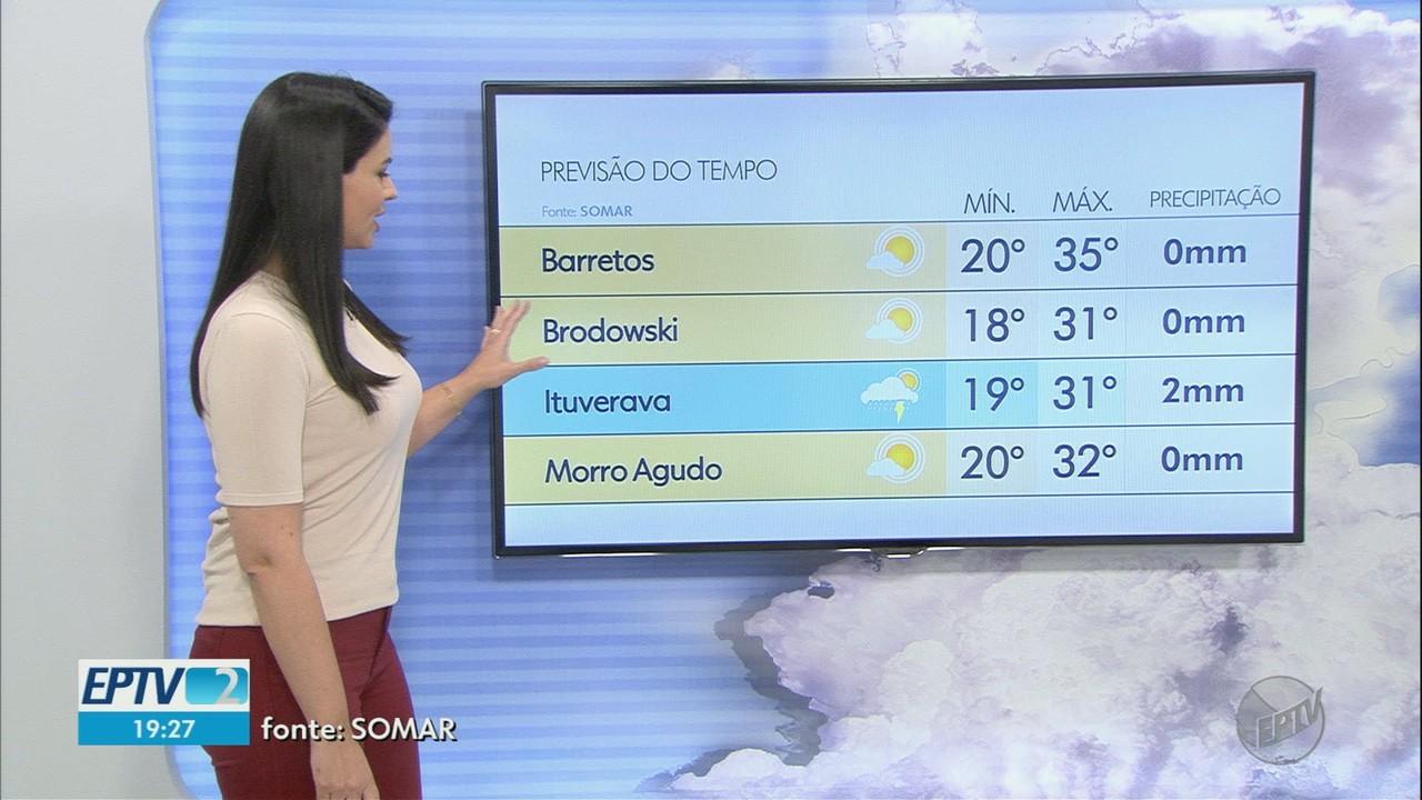 Veja a previsão do tempo para quarta-feira (25) na região de Ribeirão Preto