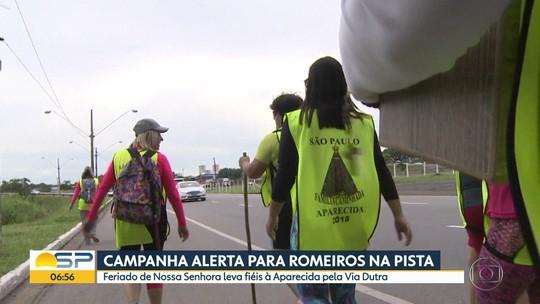 Campanha alerta para presença de romeiros na Dutra