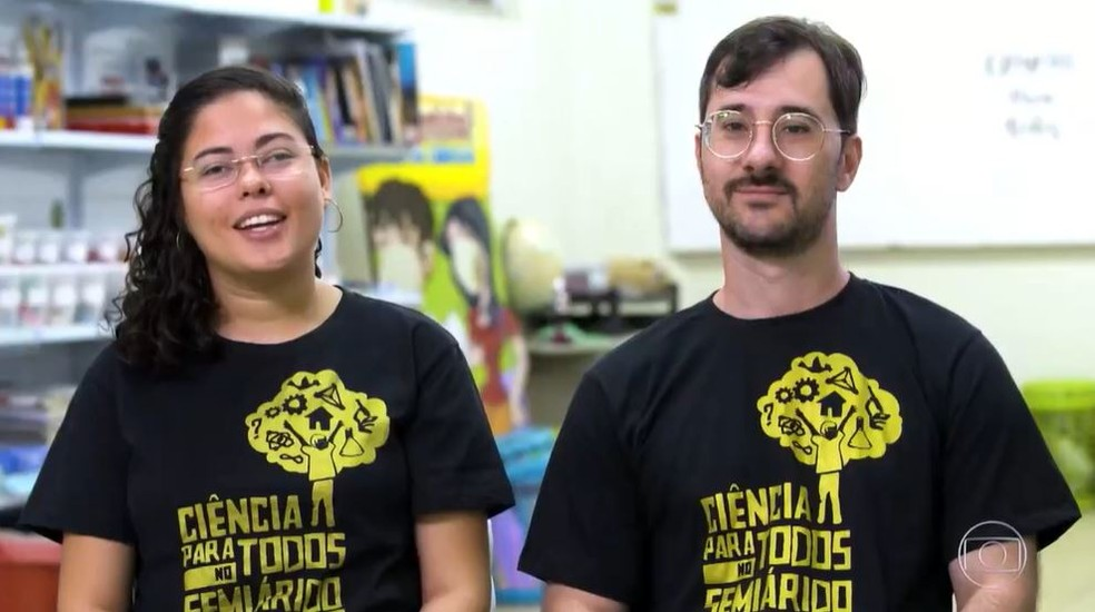 Ekarinny e Felipe são de Mossoró, no Rio Grande do Norte — Foto: Globo