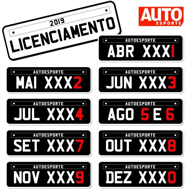 Cronograma de licenciamento  (Foto: Autoesporte)